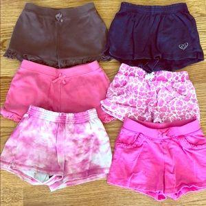 Bundle - 6 girls 4T shorts